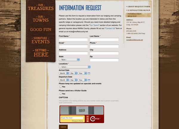 Reservations Page